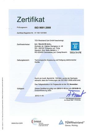Pantel Elektronik AG | Zertifikate - Pantel Elektronik AG